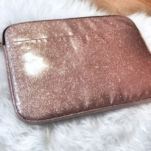 New Pink laptop case glitter by typo